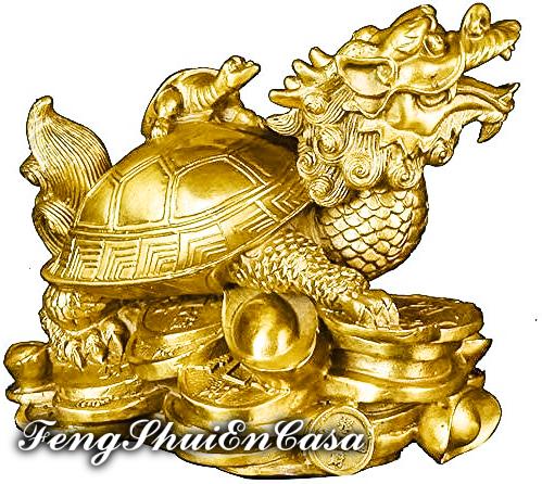 Tortuga con cabeza de dragon feng shui significado
