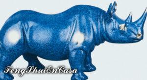 uso rinoceronte azul en feng shui
