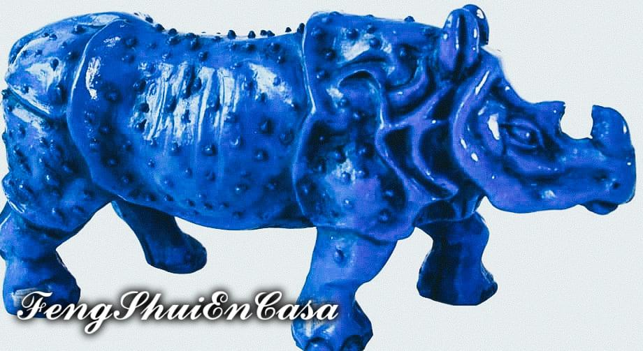 Rinoceronte azul feng shui significado